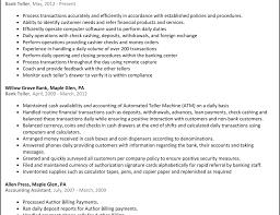 Resume For Teller Bank Teller Resume Customer Service Highlights Bank Resume