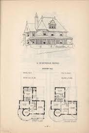 1873 print house home architectural design floor plans victorian