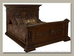 Solid Wood Bed Frame King Antique Bed Frames Luxury Solid Wood Bed Antique Bed Styles Oak