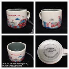 2016 you are here washington dc starbucks ornament