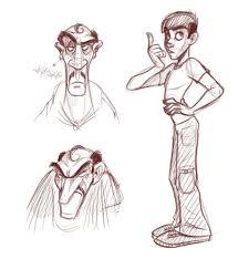 how to draw slim characters cartoonsmart com