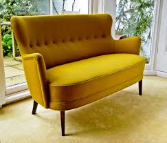 amazing mid century sofa yellow sloping arms sofa oval rectangular