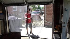 Overhead Screen Doors by Tim 9x7 Garage Door Screen Youtube