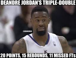 Deandre Jordan Meme - deandre jordan s triple double last night clippers http