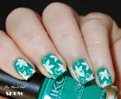 teal and white nail designs images nail art designs