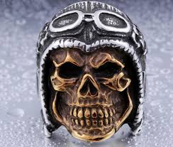 steel skull rings images Mens stainless steel skull rings wholesale jpg