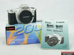 canon eos rebel 2000 35mm slr film camera w box and manual body