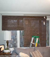 Bamboo Curtains For Windows How To Cut Bamboo Blinds Bigger Than The Three Of Us