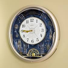 Wall Clock Seiko Amazing Melodies In Motion Wall Clock 16 6 In Wide