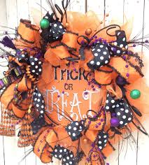 trick or treat wreath big halloween wreath extra large halloween