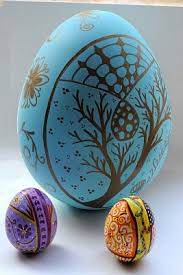 Decorating Easter Eggs With Markers easter egg decorating idea 2 doodled eggs