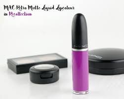 Recollec - mac cosmetics retro matte liquid lipcolour in recollection review