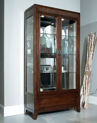 Wood Display Cabinets With Glass Doors Adorable Traditional Display Cabinet Decoration Ideas Presenting