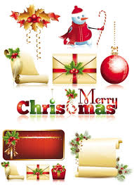 14 free vector christmas decorations images free vector art