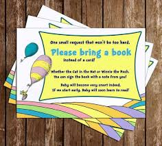 Baby Shower Instead Of A Card Bring A Book Novel Concept Designs Baby Shower