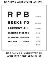 Preventing Blindness Test For Visual Acuity Research To Prevent Blindness