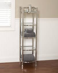 Chrome Shelves For Bathroom by Bathroom Glass Bathroom Shelves With Stainless Steel Towel Bar