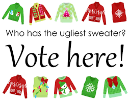 funny christmas sweater print clipart clipartfest
