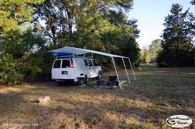 Awning System Van Life Custom Van Awning System How To Diy Van Canopy Youtube