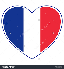 Frwnch Flag Clipart French Flag Heart Shaped Clipground