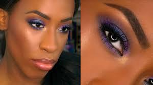 eyeshadow tutorial for brown skin dark skin drugstore purple smokey eye prom makeup tutorial lets