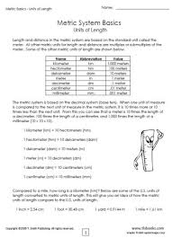 metric basics packet 1 units of volume length and weight