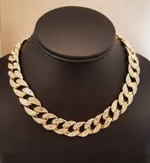 jewelry gold diamond necklace images Iced out migos type choker 24k gold diamond necklace simulated jpg