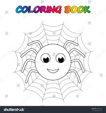 spider coloring book coloring educate stock vector 682488232