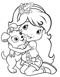 strawberry shortcake coloring pages getcoloringpages com