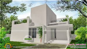 small single storied house in modern contemporary style kerala