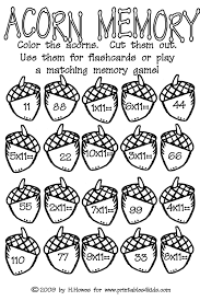 acorn multiplication math worksheet printables for kids u2013 free