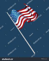 Decorative Sports Flags President Day Waving Flag American Decorative Stock Vector
