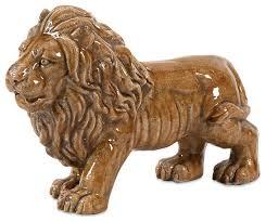 Lion Decor Home Gorgeous Style Gold Baton Ceramic Lion Statuary Home Accent Decor