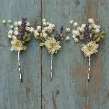 Baby S Breath Bouquets Lavender Twist Baby U0027s Breath Hair Grips Set Of 3 The Artisan