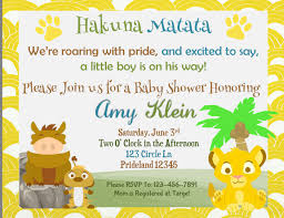 lion king baby shower invitations lion king baby shower invitation