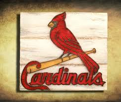 saint louis cardinals handmade distressed wood sign vintage art
