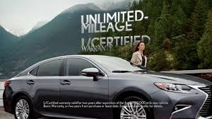 lexus pre certified vehicles l certified by lexus commercial u201cunlimited u201d youtube