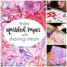 Decorating Easter Eggs Using Shaving Cream And Food Coloring by Diy Marbled Paper With Shaving Cream And Food Colour Happy Hooligans