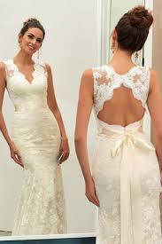 open back wedding dresses charming ivory v neck lace sheath open back wedding dress with