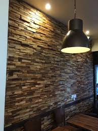 Wood Cladding Bathroom Walls Wooden Split Face Tiles Wall Cladding Only 34 99 Per M2
