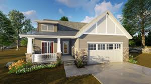 Shed Roof Porch 2 Bed Craftsman With Shed Roof Front Porch 62647dj