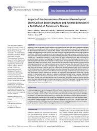 impact of the secretome of human mesenchymal stem cells on brain
