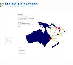 Virgin America Route Map International Flights Pacific Air Express Routes Map