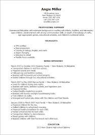 free babysitting resume templates gfyork com