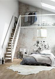 Bedroom Loft Design Inspirations Pour Des Murs De Briques Loft Design Lofts And
