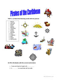 25 free esl pirates worksheets