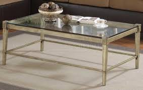 Steel Coffee Table Simple Iron Coffee Table With Glass Top In Comfy Metal Coffee