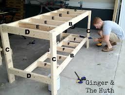 Simple Wood Workbench Plans by Ginger U0026 The Huth Diy Work Bench Projects To Try Pinterest