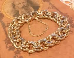 charm bracelet gold vintage images Vintage 14k gold charm bracelet etsy jpg