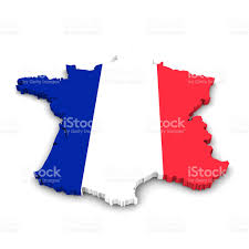 France Flag Images France Map Flag Outline In 3d Stock Photo Istock